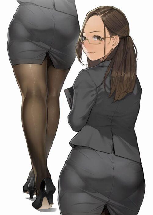 着衣中でもわかるパンティラインに気づいたら目が離せなくなってしまうパン線二次エロ画像