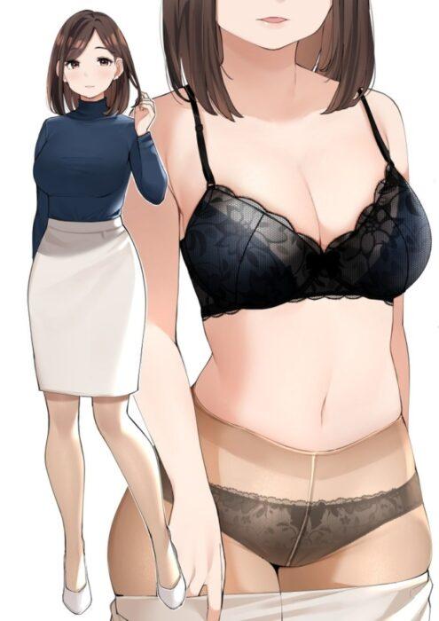 美少女のおっぱいをがっちりつかんで彩るブラジャーが可愛い美少女二次エロ画像