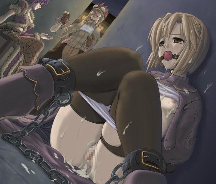 美少女の後ろ手縛りして好き放題できちゃうチャンスのSM緊縛プレイ二次エロ画像