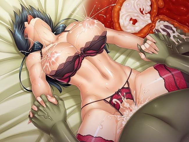 断面図で中出し種付け射精の様子が見て取れる美少女断面図セックス二次エロ画像
