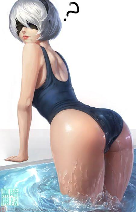 夏らしいスクール水着、スク水に身を包んだ美少女たちのスク水二次画像