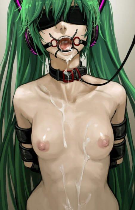 目隠しされてドキドキのドM調教されてる美少女の二次エロ画像