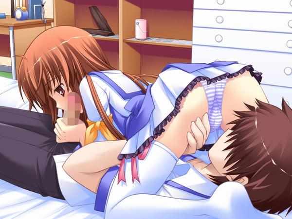 男女でお互いの気持ちいい所を舐めあえる体位シックスナイン・69の二次エロ画像