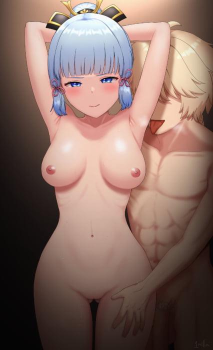 原神(Genshin Impact)の巨乳美少女白鷺の姫君神里綾華の二次エロ画像