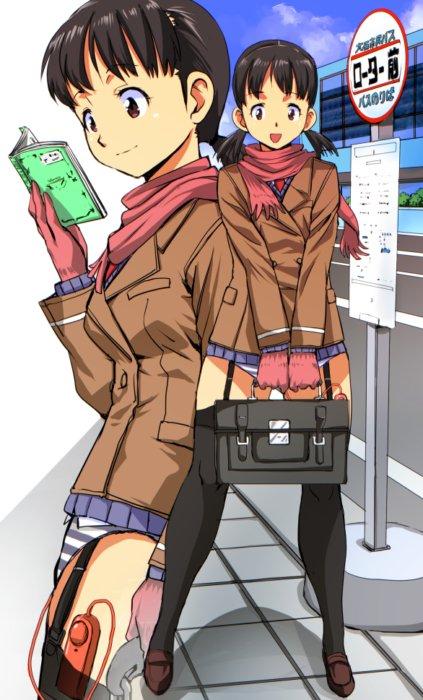 リモコンバイブやローターでとびっこお散歩露出調教されてる美少女の二次エロ画像