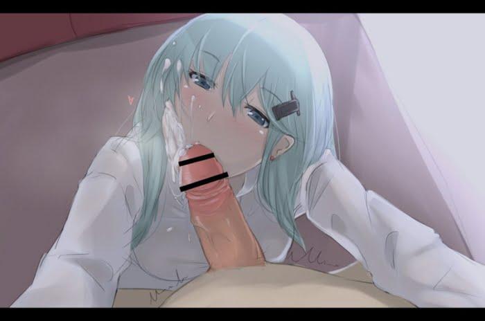 たっぷり精子をぶっかけられちゃってる姿がきれいなぶっかけ美少女二次エロ画像
