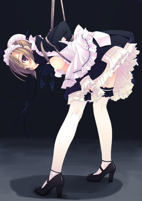 たっぷりエッチなご奉仕してほしいメイド服美少女の二次エロ画像